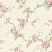 Branch Trail Cream And Pink Wallpaper