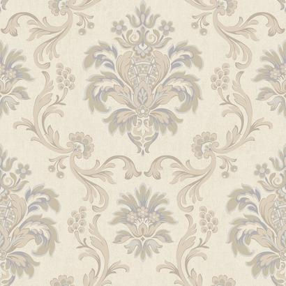 Bohemian Damask Cream And Lavender Wallpaper - Wall Sticker Outlet