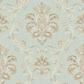 Bohemian Damask Blue Wallpaper