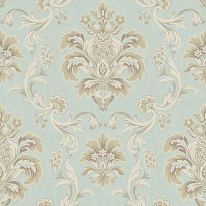 Bohemian Damask Blue Wallpaper - Wall Sticker Outlet