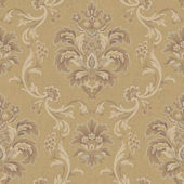 Bohemian Damask Brown Wallpaper