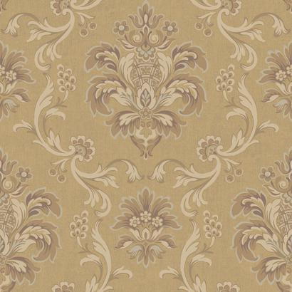 Bohemian Damask Brown Wallpaper - Wall Sticker Outlet
