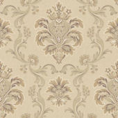 Bohemian Damask Tan Wallpaper
