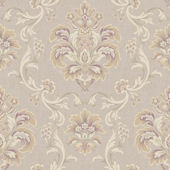 Bohemian Damask Mauve Wallpaper
