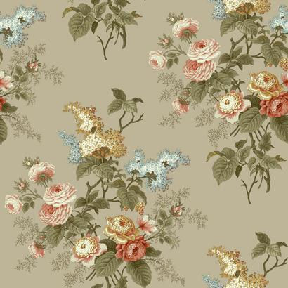 Emmas garden grey waverly wallpaper for Waverly wallpaper