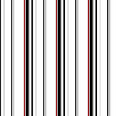 Wide Multi Stripe Black and White Wallpaper