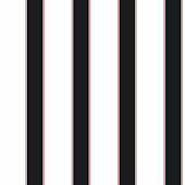 Wide Stripe Pinstripe Black and White Wallpaper