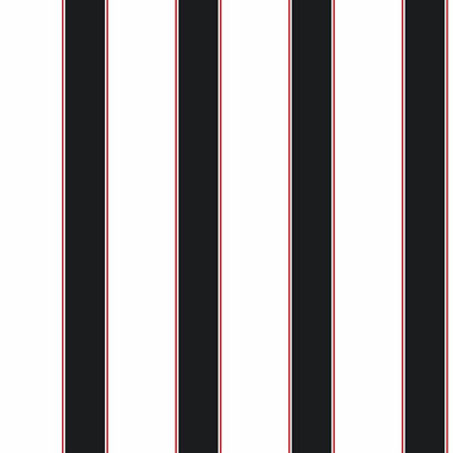 Wide Stripe Pinstripe Black and White Wallpaper  - Wall Sticker Outlet