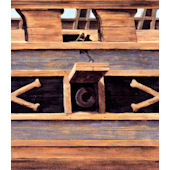 Pirate Ship Wood Ship Siding Faux Wall Border
