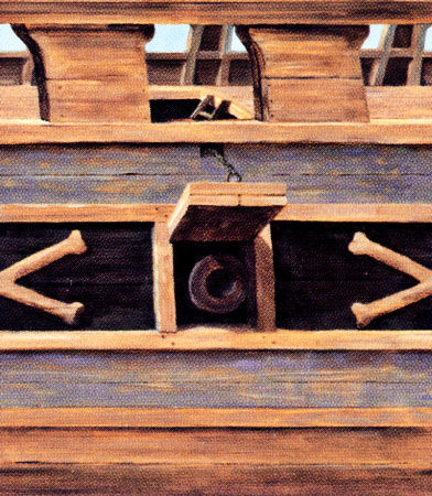 Pirate Ship Wood Ship Siding Faux Wall Border - Kids Wall Decor Store