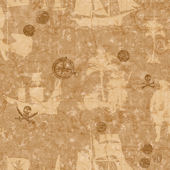 Pirate Map Brown Wallpaper
