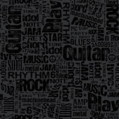 Black Rocker Text Wallpaper