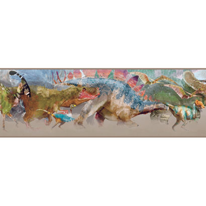 Colorful Dinosaur Wallpaper Border - Wall Sticker Outlet