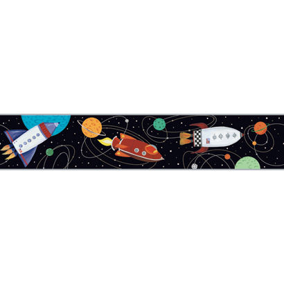 Black Outer Space Wallpaper Border - Wall Sticker Outlet