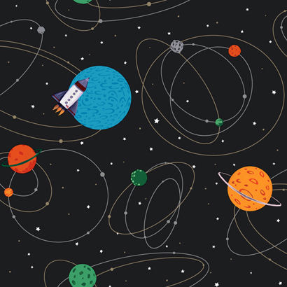 Black Outer Space Wallpaper  - Wall Sticker Outlet