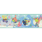 Sponge Bob Blue Wallpaper Border