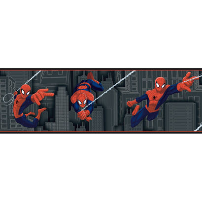 Ultimate Spiderman Black Wallpaper Border - Wall Sticker Outlet