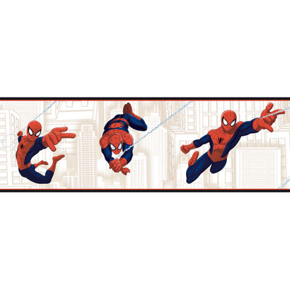 Ultimate Spiderman White Wallpaper Border - Wall Sticker Outlet