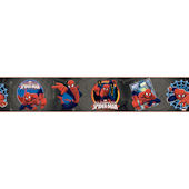 Ultimate Spiderman Badge Black Wallpaper Border