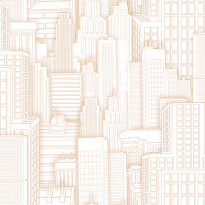 Ultimate Spiderman City Beige Wallpaper  - Wall Sticker Outlet