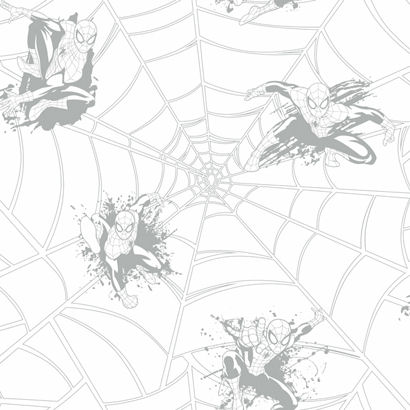 Ultimate Spiderman Web Gray Wallpaper  - Wall Sticker Outlet