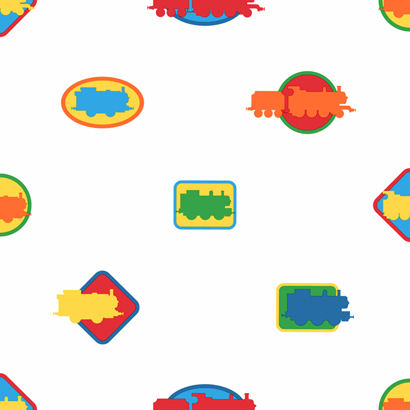 Thomas Icons Colorful Wallpaper  - Wall Sticker Outlet