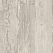 Wide Wooden Plank Gray Wallpaper