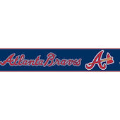 Atlanta Braves Pre Pasted Wall Border