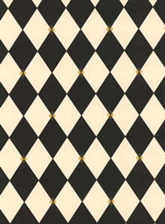 Black Harlequin Wall Paper