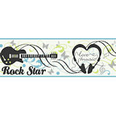 Black Rock N Roll  Wallpaper Border