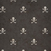 Black Skull and Cross Bones Wallpaper