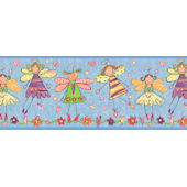 Blue Fairy  Wall Paper Border