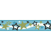 Blue Star Wallpaper Border