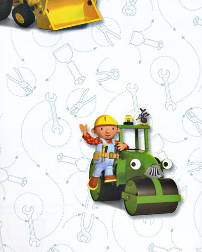 Kids Wallpaper Murals on Bob The Builder White Wallpaper   Wall Sticker Outlet