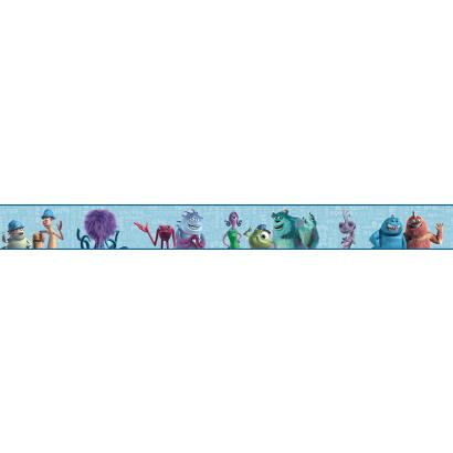 Disney Monsters Inc Prepasted Wall Border Blue - Wall Sticker Outlet