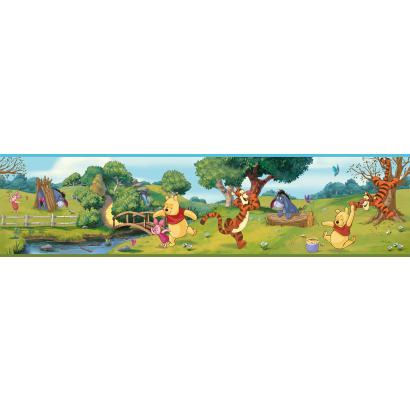 Disney Swinging Winnie The Pooh Prepasted Border - Wall Sticker Outlet