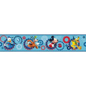Disney Mickey Clubhouse Prepasted Border Blue