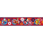 Disney Mickey Mouse Clubhouse Prepasted Border Red