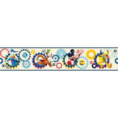 Disney Mickey Clubhouse Prepasted Border White