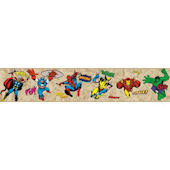 Marvel Comic Classic Heroes Prepasted Wall Border