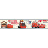 Disney Cars Buddy Prepasted Wall Border White