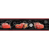 Disney Cars Mcqueen Speedometer Border Black