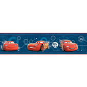 Disney Cars Mcqueen Speedometer Border Blue