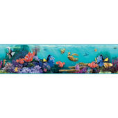Disney Finding Nemo Teal Prepasted Wall Border