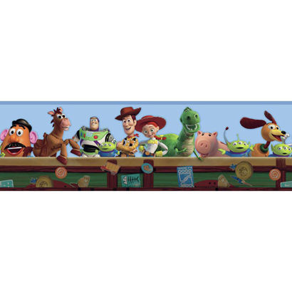 Disney Toy Story Toy Chest Prepasted Wall Border - Wall Sticker Outlet