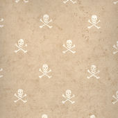 Brown Skull and Cross Bones Wallpaper