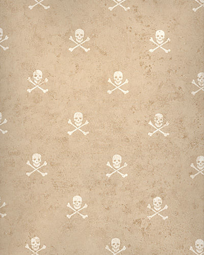 Brown Skull and Cross Bones Wallpaper - Kids Wall Decor Store
