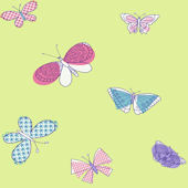 Green Buterflies Wallpaper