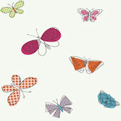 Raspberry Buterflies Wallpaper