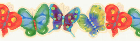 Butterfly   Wall Paper Border - Kids Wall Decor Store